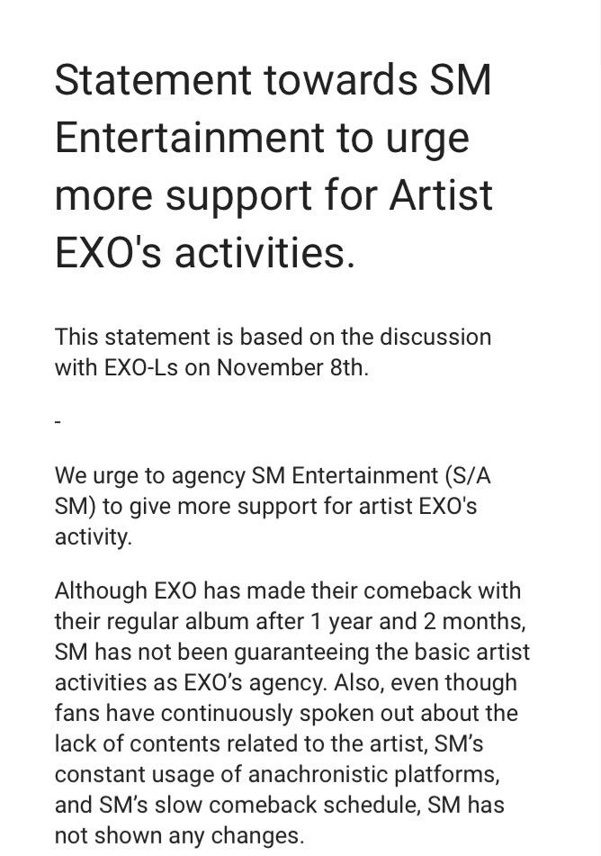 原來是因為這次SM對於EXO的回歸沒有什麼宣傳、他們也沒有上綜藝節目,再加上以前對SM種種的不滿,讓愛麗們一次爆發,因此發起了聯署!