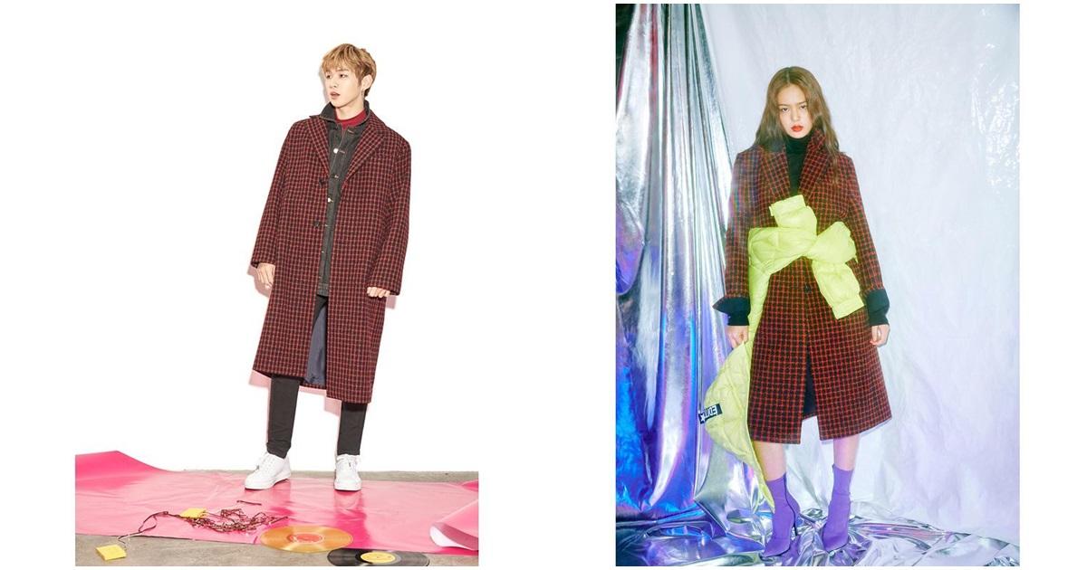 接下來是大衣系列!說到秋冬穿搭就是大衣+格子啦!像是這款黑紅格子大衣低調有特色,不論是搭配褲子、裙子、帽T、襯衫,正式或是休閒的風格都可以,男生和女生穿都很適合!