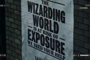 然後牆上出現了一個公告,內容是: 魔法世界正面臨暴露的危險!我們需要你的幫助!