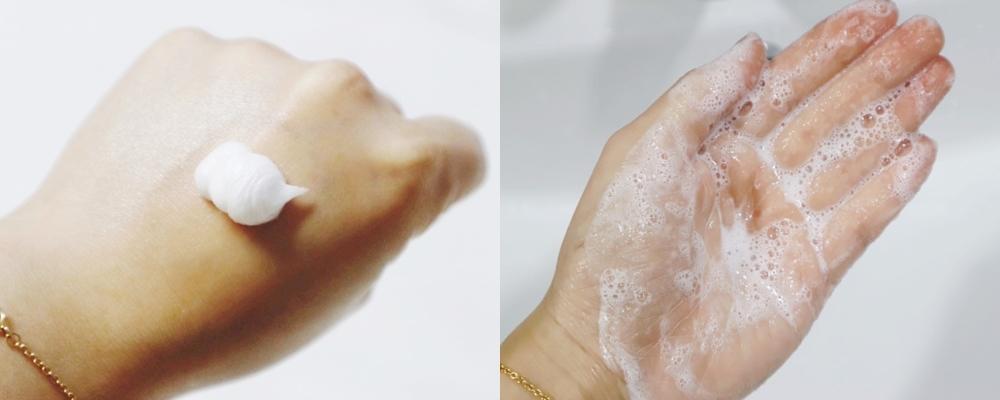 雖然這款潔面乳的起泡力比較弱,但是洗淨能力卻很好~只要能溫柔護理痘痘,管他起泡力好不好XD 洗後非常清爽,有種肌膚終於能呼吸的感覺。