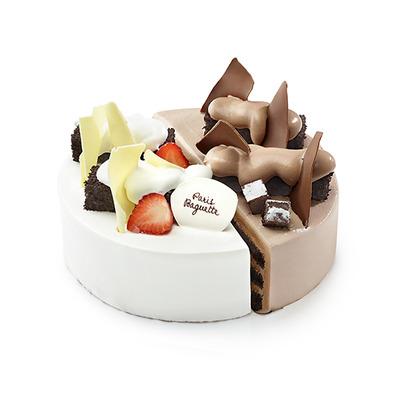 <半半蛋糕> 每次買蛋糕大家喜歡的口味都不同,又或者是同一種口味吃到最後很膩,那半半蛋糕就是再適合不過的選擇啦~~