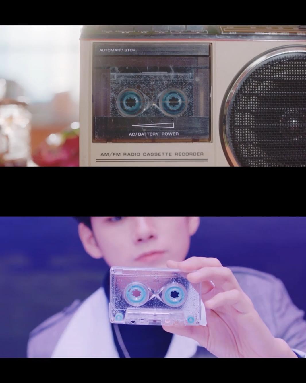 MV最後是一個顯示無限的錄音帶,而這一個錄音帶是一直播放著,相信這就是我們之間的故事,永遠未完待續.....