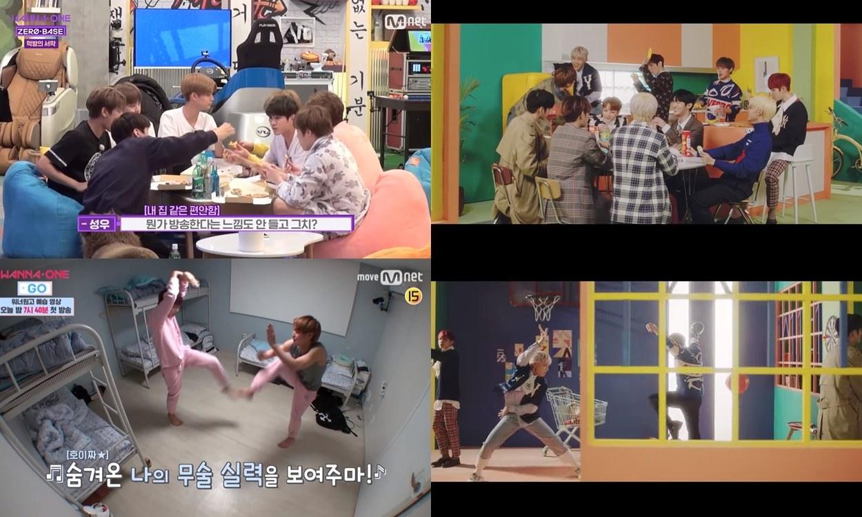 Wanna One 日前發行的最新專輯主打<Spring Breeze>MV中許多場景也被粉絲們發現與先前拍攝的綜藝節目有好多相似處,讓粉絲們邊看就像是在回憶這一年多以來的點滴