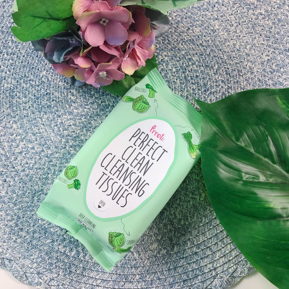 【PRRETI】  蔬菜生機去角質卸妝紙巾: 出門在外最方便的卸妝產品絕對非卸妝紙巾莫屬啦!一樣是剛剛卸妝水的姊妹,將卸妝水濃縮在卸妝紙巾中,如果要去旅行或是外出,這款卸妝紙巾真的可以省去你超多麻煩。