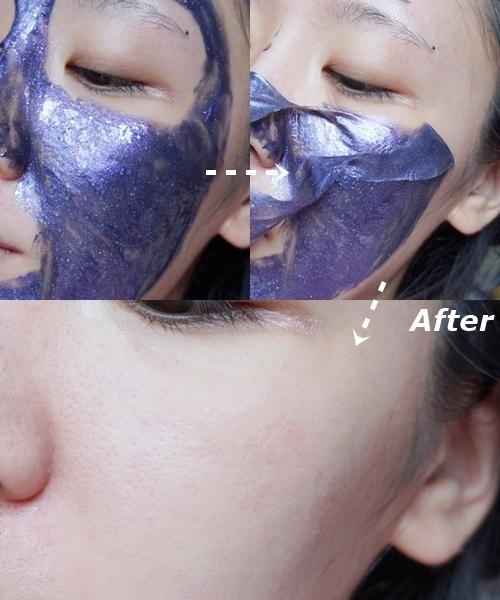 使用之後可以看到臉上的老廢角質和多餘的皮脂都被去除,而且還變得更加水潤Q彈,隔天上妝也能明顯感覺到底妝更好上妝、更服貼了!