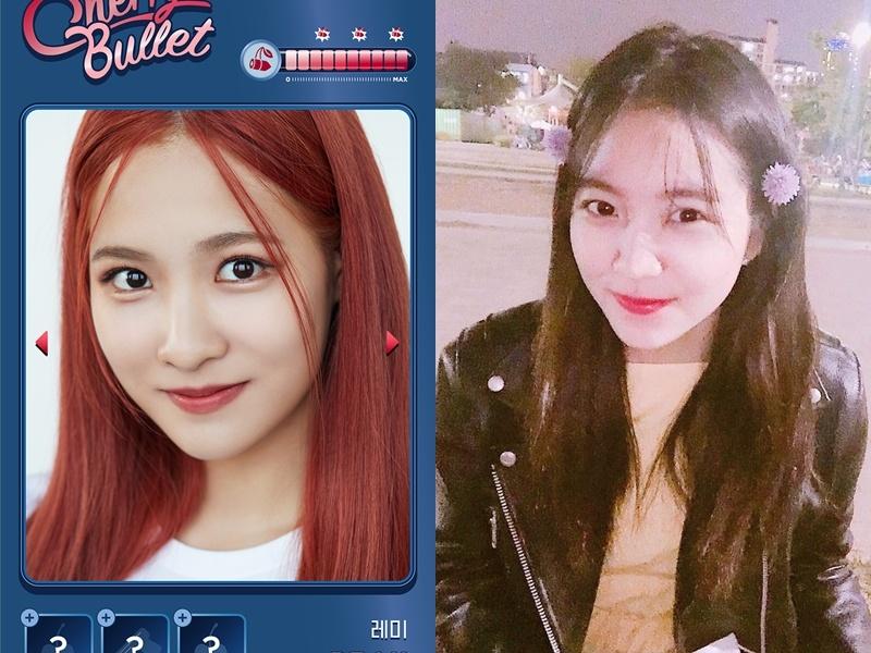最後一位是RE MI,照片一公開就有粉絲留言覺得她笑起來的樣子讓人立刻聯想到Red Velvet的Yeri。