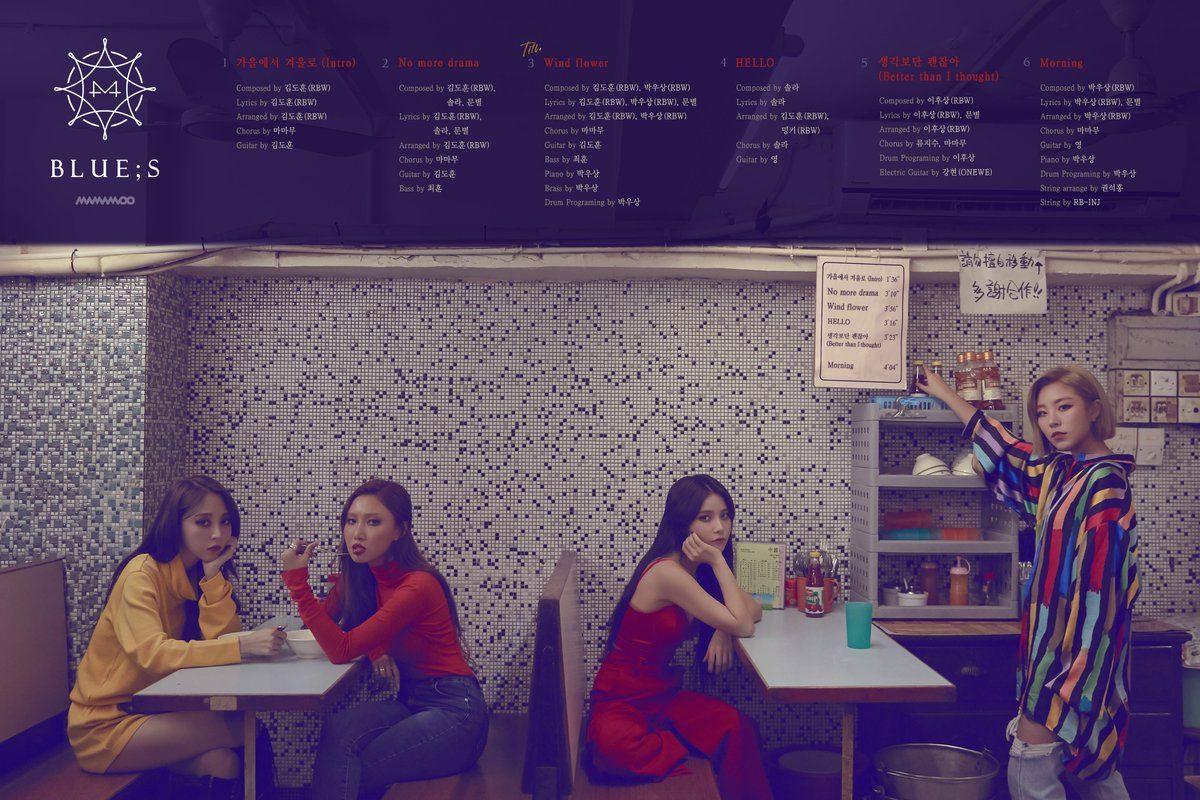 11月29日 MAMAMOO 接續著推出迷你專輯《BLUE;S》的MAMAMOO,先前粉絲抵制演唱會,認為公司沒有讓成員們有足夠的休息時間,希望讓演唱會延期,最終以投票方式順利延期。此次新輯距前一張《Red Moon》時隔4個月,是張相當符合冬天氛圍的專輯。
