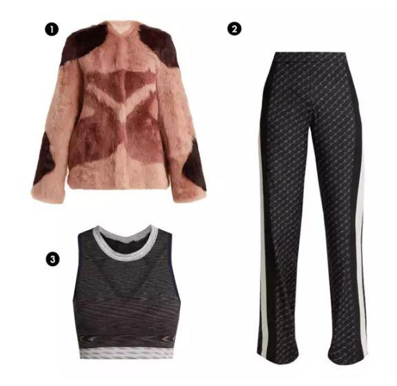 Shopping List: 1、RAY 色塊毛外套  2、LNDR 短版運動上衣 3、Stella McCartney 側條紋運動褲