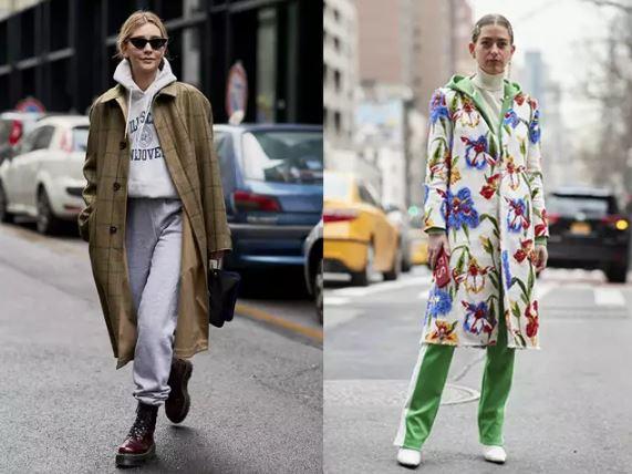 3、成套運動服+長外套    在韓劇裡也很常看主角們穿那種成套的運動服對吧?它們通常出現在居家或出門倒垃圾場面...但今天我們把拖鞋換掉,外面加一件剪裁俐落的長外套,完全就是不一樣的一個人了(?) 再加些太陽眼鏡、大耳環等配飾,超內行的街頭穿搭就這樣由妳的運動服完成了!根本是睡衣的新生命,太神奇啦傑克!