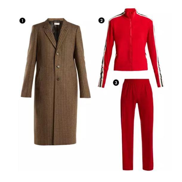 Shopping List: 1、Balenciaga 格紋大衣 2.3、NORMA KAMALI 成套運動服