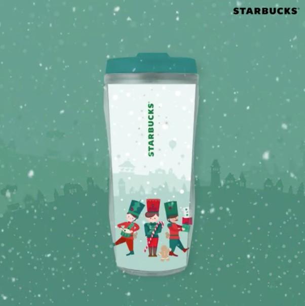 星巴克在11月29日要上市兩種可愛的聖誕派對系列的杯子囉! 27日星巴克先在SNS上公開了兩款杯子的模樣