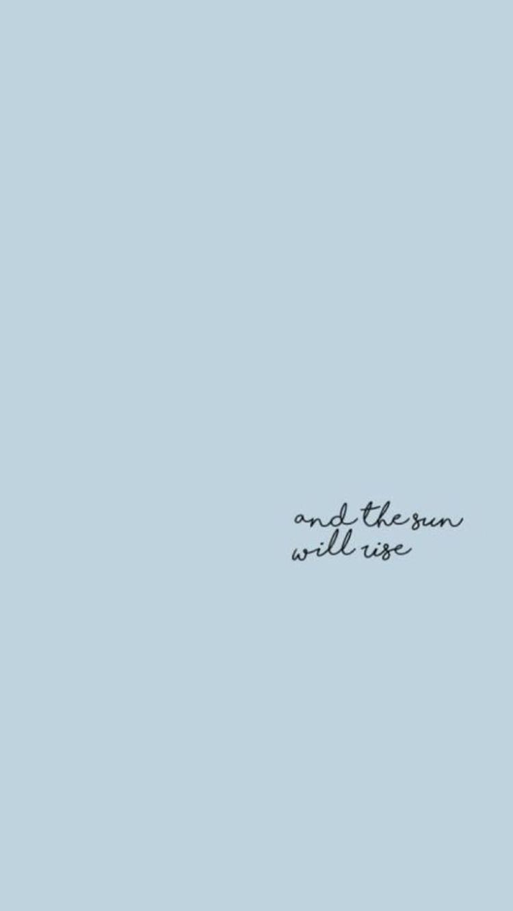 淺藍色也是非常能夠讓人心情平靜下來的感覺,不用太多設計,光是配上手寫英文就夠啦!