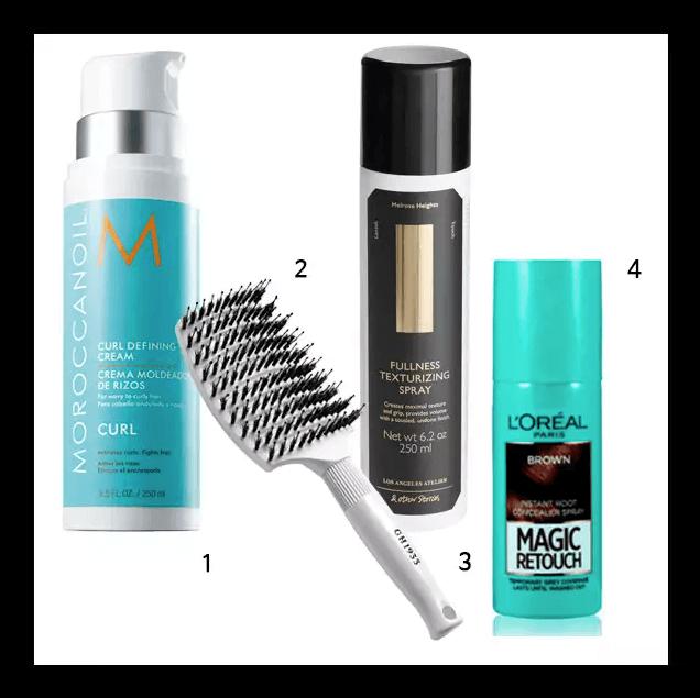 『從梳子到補色噴霧,五五分的必備造型小物』 1. MOROCCANOIL優油捲度記憶塑型乳: 含有摩洛哥堅果成分的髮油,能有效改善髮質。整理鬆散凌亂頭髮的同時,也能夠將有捲度的頭髮朔型。250ml 韓幣55,000。 2. GH1933 造型梳: 認為捲梳較難掌控的朋友,這裡推薦用造型梳將髮根梳起後,使用吹風機從造型梳背面吹入熱風即可。韓幣18,000。
