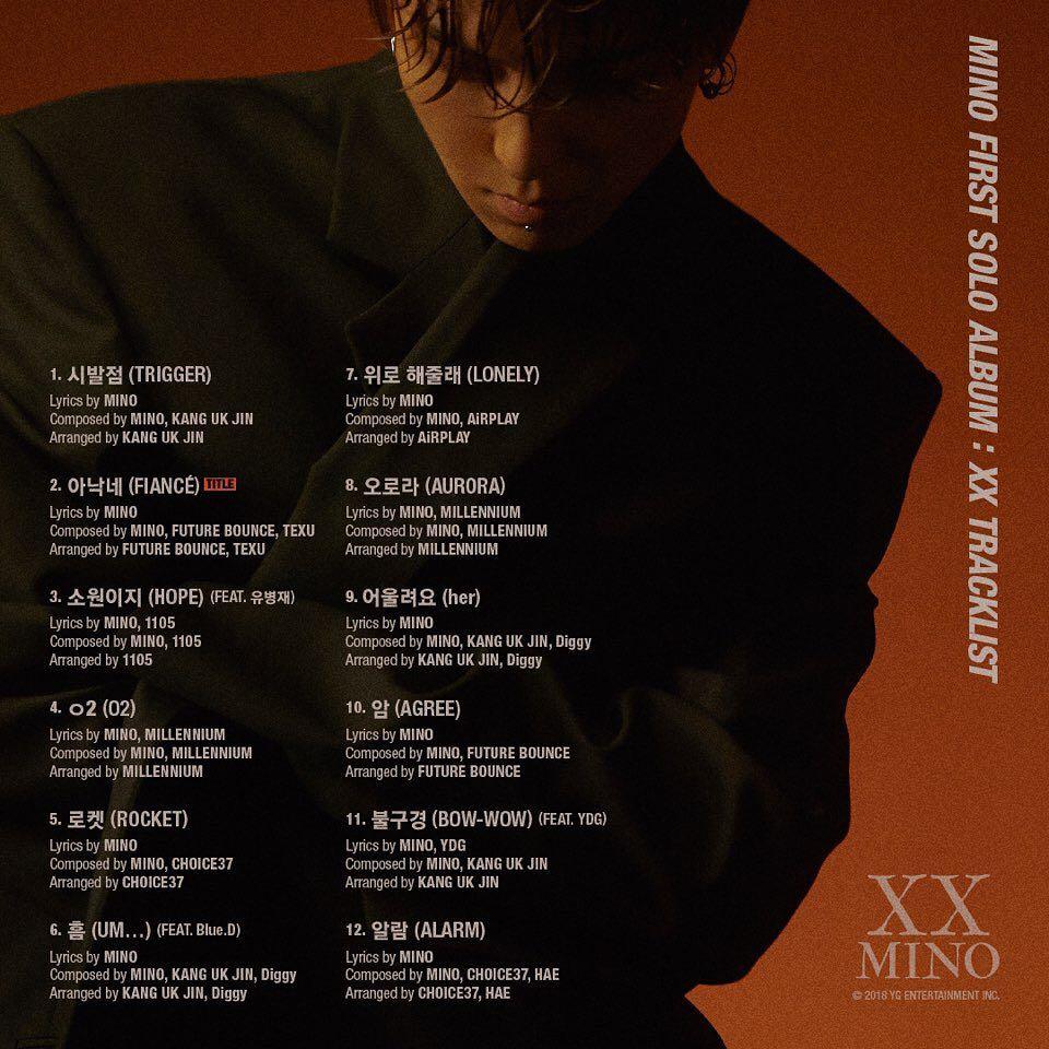 宋旻浩在官方採訪的影片也說到「這張專輯是我打從靈魂裡製作出來的,製作期間不是在工作室就是家裡,把一切的心思都這張專輯裡了,可以說是『最宋旻浩』的作品」《XX》整張專輯12首歌全由宋旻浩親自作詞、作曲和製作,向外界與歌迷展現堅強的音樂實力。