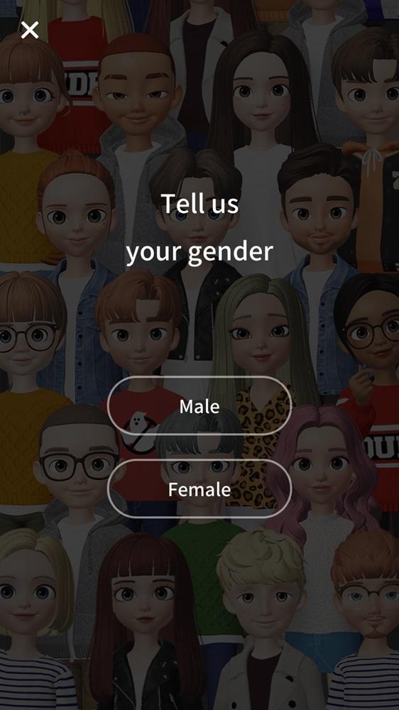 接著就可以選擇你想要製作的角色性別,男生就選「male」、女生則選「Female」。