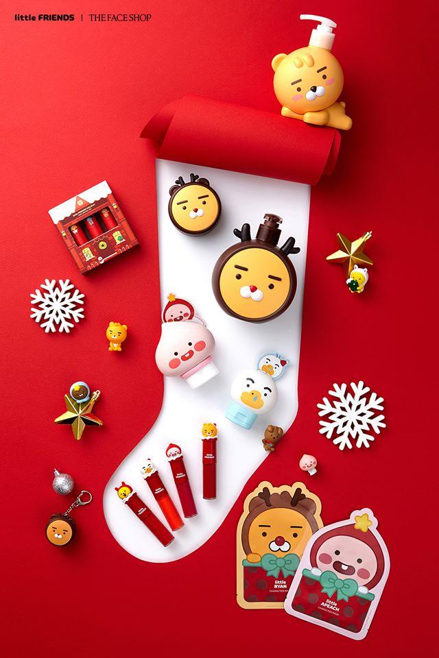 這次The Face Shop跟Kakao Friends的聖誕聯名商品超級實用,洗面乳、護手霜、護唇膏、沐浴用品、香水⋯等,大家第一眼選中哪個商品呢?