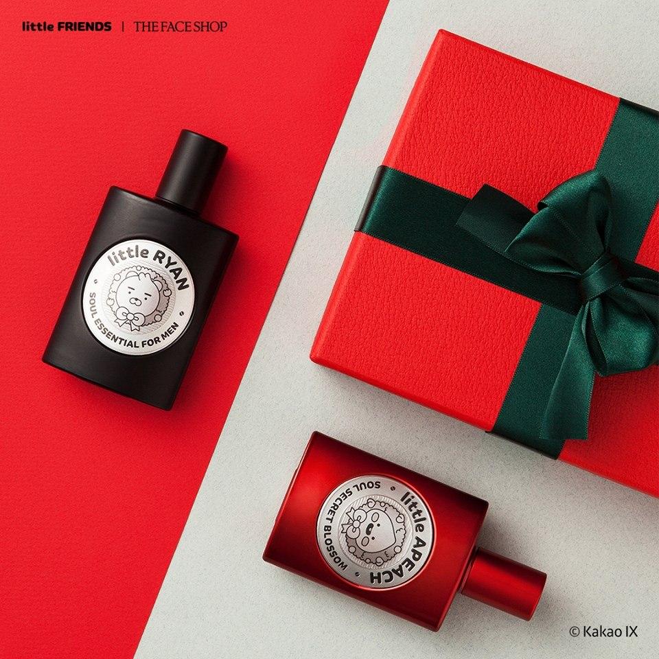 香水有兩款香味,黑色包裝的小萊恩是木質香調,紅色包裝的小Peach則是偏花香,包裝可愛又不失質感。