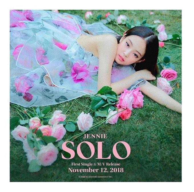 在本月6日,JENNIE<SOLO>MV的播放量已經超過1億,當時MV只發佈了23天而已。