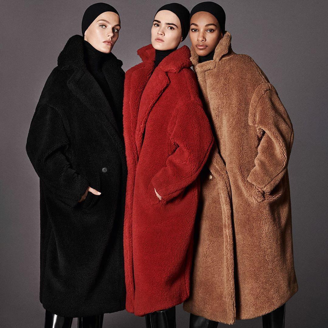 泰迪熊大衣可不只有咖啡色系,黑色、紅色、白色也都是羊毛絨大衣的經典顏色。這個冬天準備好一起毛茸茸了嗎?  本文翻譯自:Allets