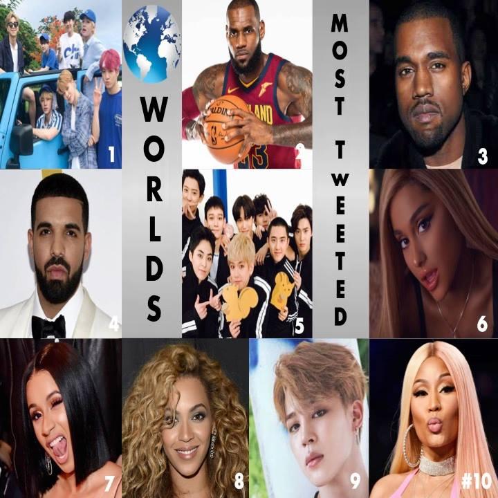 在全球音樂獎官方公布的第九名由唯一一位韓國愛豆奪得,就是防彈裡擔當主領舞和高音主唱的Jimin 朴智旻。