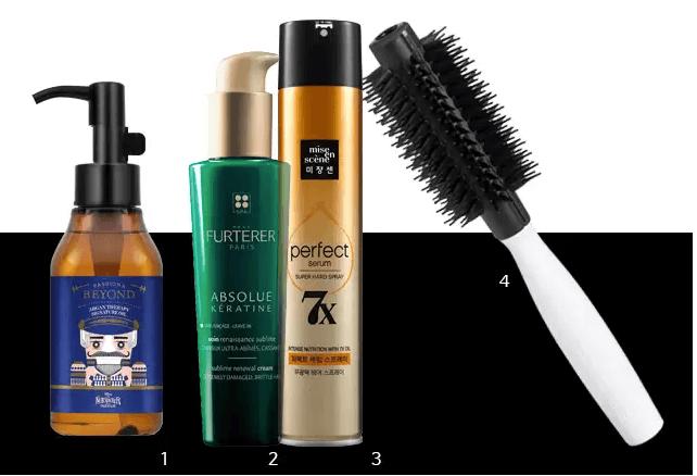 KEY ITEM 1. BEYOND 摩洛哥堅果護髮油: 能夠有效滋潤乾燥頭髮,讓髮質健康明亮,且滋潤不油膩。130ml,韓幣19,000。 2. ABSOLUE KÉRATINE 重塑再生免沖洗精華素: 含植物角蛋白、亞麻和BIOCYMENTINE,可有效修護受損髮質,讓秀髮重塑柔韌光澤。100ml,韓幣39,000。