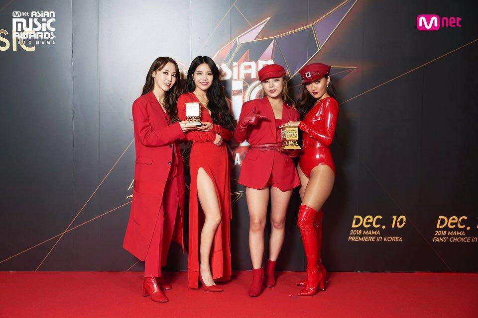 首次參加《MAMA》的MAMAMOO在今年奪得「最佳歌唱表演獎」及「WORLDWIDE FANS' CHOICE TOP10」兩座獎項的殊榮,當晚的表演從成員們短暫的個別舞台最後再以團體表演做為結束。