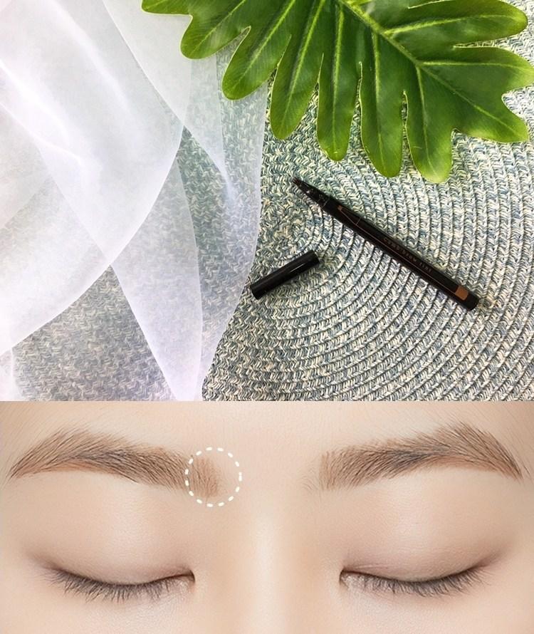 #A'PIEU 持久型染眉露(筆型): 眉型可以決定一個人的第一印象和給人的氣質,而眉毛畫得好不好,一眼就可以看得出來,眉毛可說是整臉妝容不可或缺的重點之一~一般眉筆畫到眉頭或是缺毛的部分時會顯得不自然,但這款染眉露特殊三叉頭設計,可以畫出像是原生毛髮般的毛流感,讓眉毛的毛流看起來就像天生就這麼完美。