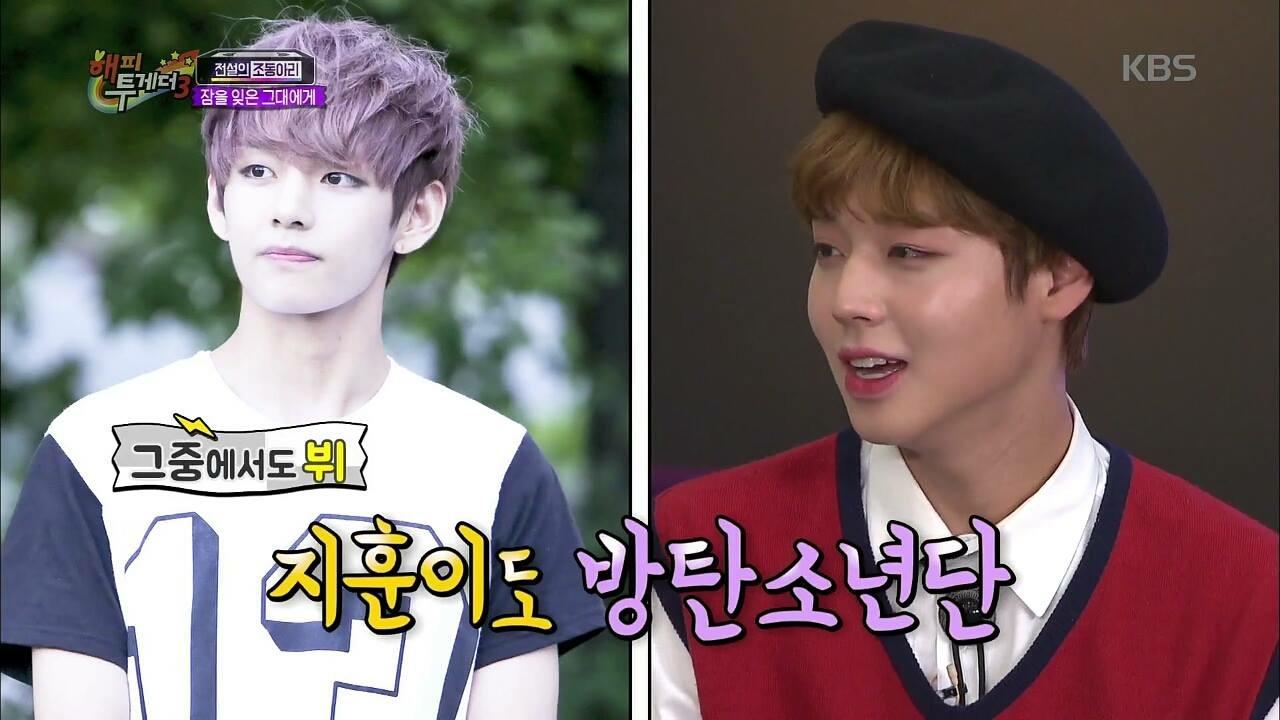#2 Wanna One - 朴志訓 「最喜歡V前輩在舞台上的表情和演技!」第二個超級男飯就是志訓!先前就在節目裡公開表示很喜歡泰亨~