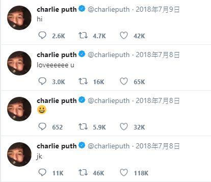 而CP查理曾接受媒體訪問的時候就有表示「喜歡防彈少年團和柾國,只是單純的喜歡他們,覺得他們是很了不起的團體」。CP查理對防彈少年團的喜愛從他的推特也看的出來,先前CP查理新歌<The Way I Am>公開後,他就在自己的推特上呼叫柾國XD