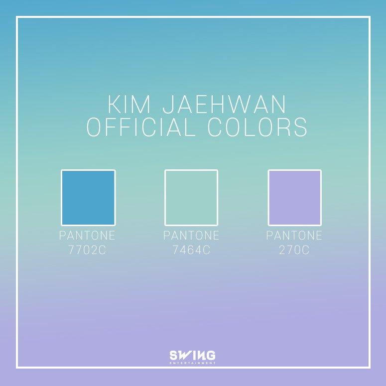 金在奐也在今天開通個人官咖,也開通了個人推特及instagram與粉絲們交流,並在推特上公布了他的應援色,大家覺得這三個顏色如何呢?