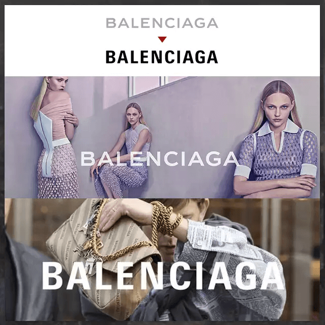 『LOGO的力量:BALENCIAGA』  時尚品牌BALENCIAGA藝術總監的設計師Demna Gvasalia正在像時尚界證明LOGO所代表的品牌力量。2017秋冬系列曾為了向Bernie Sanders致敬,在logo下方加上了線條,也曾使用LOGO來展現與母公司KERLING的關聯性。現在則是將BALENCIAGA原本較細的字體改為較有現代感的字體,準備帶領品牌走向新的趨勢。