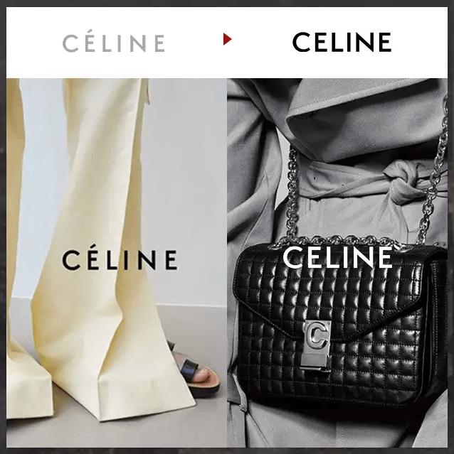 『改變,從LOGO開始:CELINE』 1940創立的法國品牌CELINE最近開啟了歷史上的新篇章,2008年至2018年的創意總監Phoebe Philo 離開,而Hedi Slimance繼任後,想要給大眾呈現一種新的品牌面貌,並在最近公開了新的LOGO。大膽的改掉了從1960流傳下來的LOGO,首度捨棄E上的中音符號和品牌下的Paris字樣。