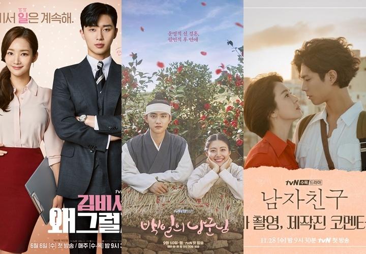2018年 tvN 製播戲劇幾乎部部精采,包括《金秘書為何那樣》、《陽光先生》、《百日的郎君》、《雞龍仙女傳》又或者是現在還在熱播中的《男朋友》、《阿爾罕布拉宮的回憶》等都是獲得高收視且觀眾好評的戲劇代表