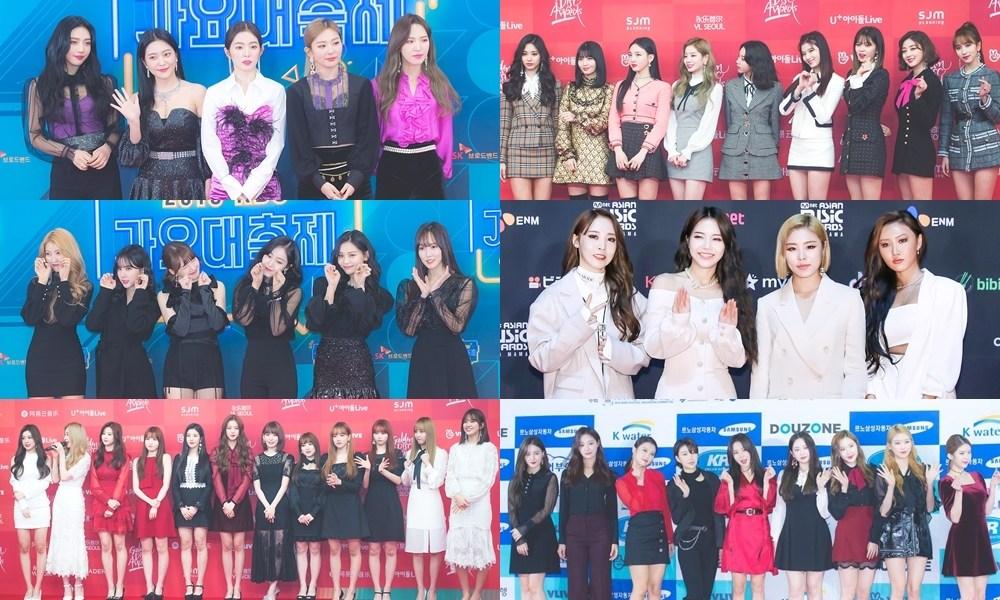 女團的部分目前確定出席的則包含 Red Velvet、TWICE、GFRIEND、MAMAMOO、IZ*ONE、MOMOLAND 等六組!