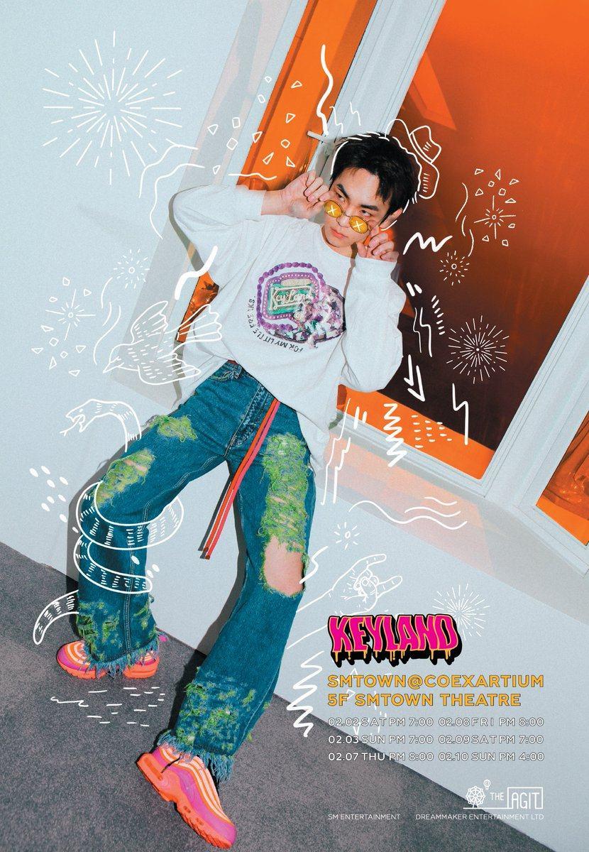 去年11月推出了首張個人專輯《FACE》,又在日本推出個人專輯《Hologram》的 Key 去也確定將於2月2日至3日,7日至10日期間舉行為期共六天的個人演唱會《THE AGIT KEY LAND – KEY》