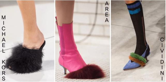 『從頭到「腳」都時尚,皮毛製鞋靴』  要成為時尚達人,不只是衣著的選擇,選擇搭配的鞋靴也非常的重要。根據皮毛位置不同的設計款式,也會有不同的穿搭方式及適合的場合。像是MICHAEL KORS的毛茸茸的設計絕對能讓人在派對上更有存在感。若不想太浮誇,則可選擇CIVIDINI只有在鞋上用皮毛做微裝飾的設計,若加上同色調配色的長襪搭配,會有更好的效果。
