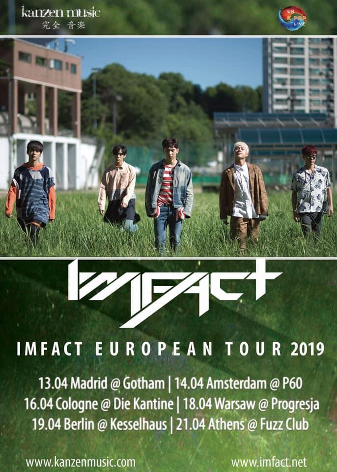 而這次的回歸只相隔了五個月!讓粉絲們很興奮外,他們也會在今年四月展開歐洲巡迴!IMFACT將會前往 西班牙、荷蘭、德國、 波蘭、雅典等地演出與粉絲相見。
