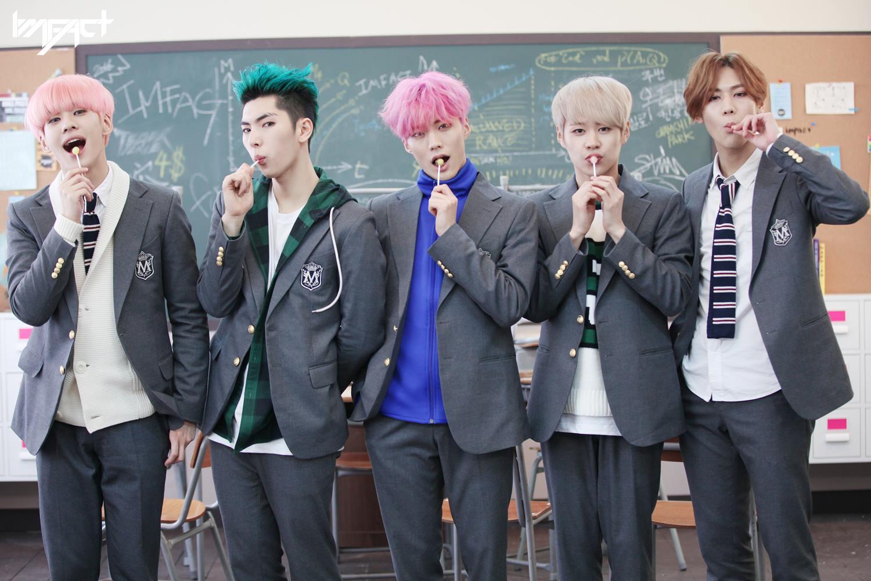 IMFACT是明星帝國推出的男子偶像組合、帝國之子的師弟,由帝業、泰浩、摯安、李想和雄宰五人組成,在2016年1月27日發行《Lollipop》專輯出道。