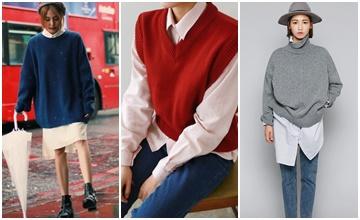 有一種萬年流行的搭法叫「襯衫+毛衣」...但HOW?