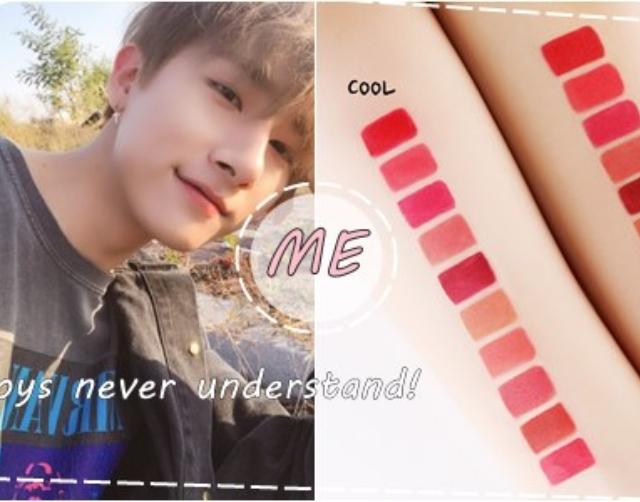 紅色唇膏看起來根本一模一樣?8個對化妝的心裡OS說明男生其實也很難當...