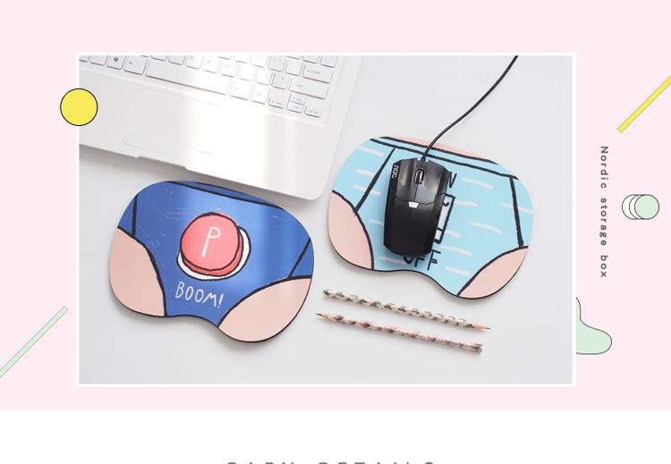 ▽迷你可愛鼠標墊 每天看電腦寫報告,搞得自己心情煩悶啊~這時候看看自己的滑鼠墊,如果是用一個可愛又帶點俏皮的款式,是不是能讓自己心情更好呢?